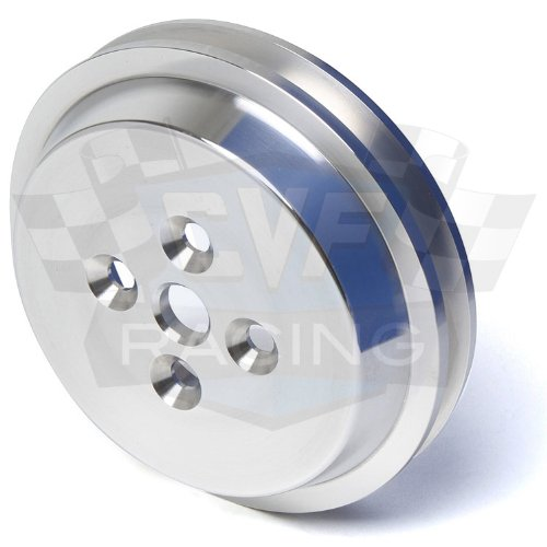 (Short Water Pump Pulley for Ford Racing Short Water Pump, 2V, V-Belt)