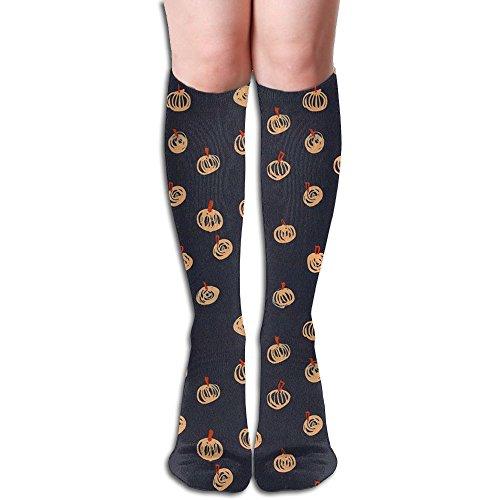 Painting Pumpkin Women Fashionable Knee High Socks Funny Socks For Female (Ideas For Painting Pumpkins For Halloween)