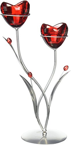 Koehler Candleholder Candle Holder, Red -