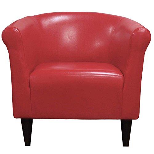 Parker Lane Savannah Club Chair, Red Leatherette