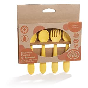 Green Toys BPA-Free Feeding Spoon/Fork (Discontinued by Manufacturer)