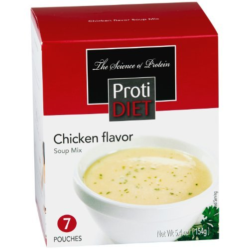 ProtiDiet Soup (14 Servings)- 7 Count (Pack of 2)- Chicken Flavor Soup ()