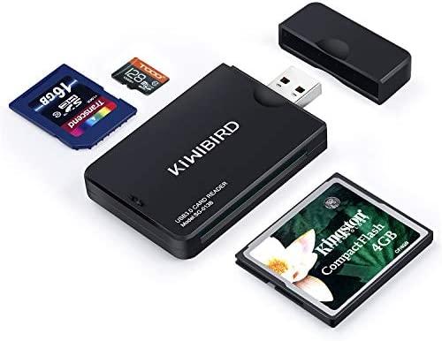 KiWiBiRD USB 3.0 (3.1 Gen 1) Lector Tarjetas de Alta Velocidad 9-in-1 para CF Compact Flash (UDMA), SD, SDHC, SDXC, Micro SD, Micro SDHC, Micro SDXC ...