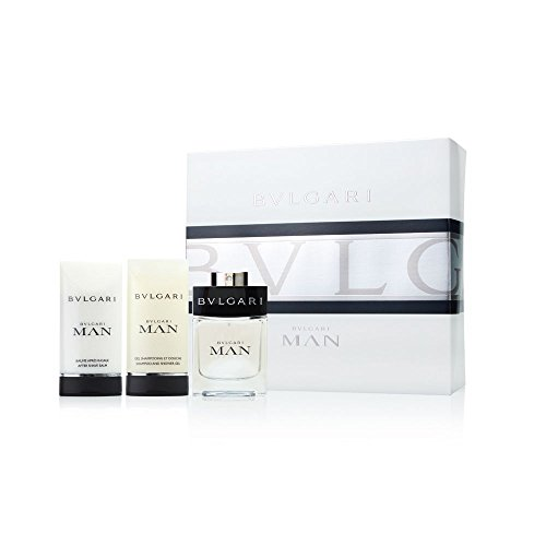Bvlgari Man by Bvlgari 3 Piece Set Includes 2.0 oz Eau de Toilette Spray 2.5 oz After Shave Balm 2.5 oz Shampoo and Shower Gel