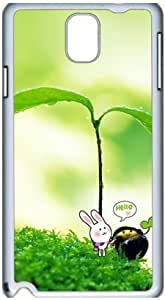 Fashion Designed Pattern Protevtive Hard Back Case Cover for Samsung Galaxy Note3 N9000 Cute Plant Hello