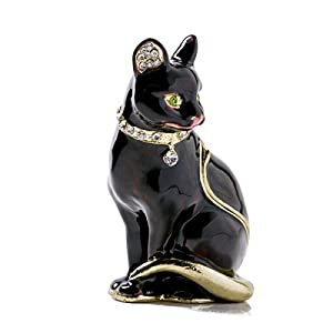 Vintage Style Jewelry Organizer Holder cat Trinket Small Box