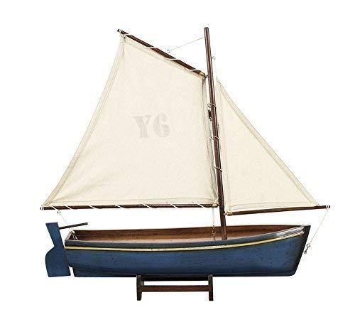 Portoghese Barca pesca, Azzorre Barca vela blu, Modello nave linoows