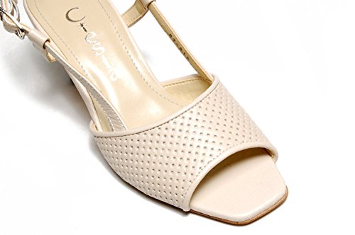 Ciesta Sandali Con Cinturino Posteriore Da Donna [169-16067] {pelle} [20-21,5 Jp (2,5-4 Donne Us)] Beige