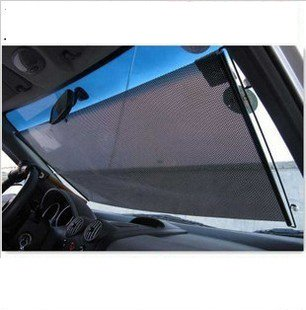 Black High Quality New Auto Car Rear Window Roll Blind Sun Shield Visor Windshield Shade Roll Car Sunshade