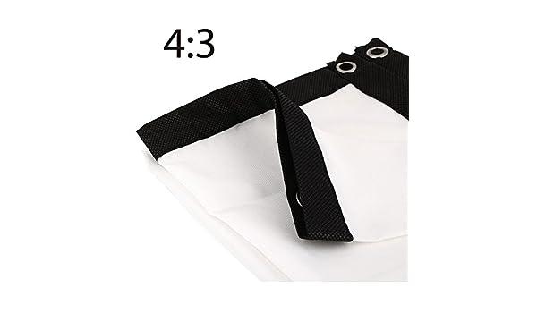 Haihuic - Pantalla de Tela de proyector, 16:9/4: 3 Pantallas de ...