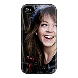 Iphone 4/4s Case Cover - Slim Fit Tpu Protector Shock Absorbent Case (girls Lindsey Stirling Violinist)