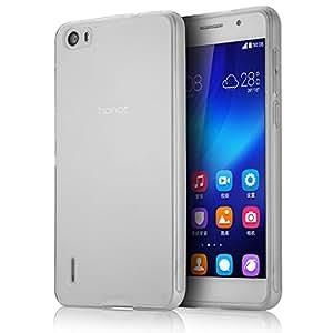 tinxi® Funda de silicona para Huawei Honor 6 Caso de silicona TPU caso de la cubierta de la contraportada de silicona protectora caso bolsa transparente y claro fondo