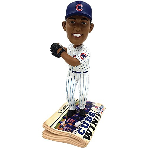 Forever Collectibles Chicago Cubs Addison Russell 2016 World Series Champions Newspaper Bobblehead
