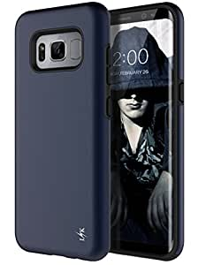 Galaxy S8 Case, LK [Lux Series] Shock Absorption Hybrid Armor Defender Protective Case Cover for Samsung Galaxy S8 (Navy Blue)