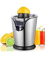 Orange Juicer Machine, Electric Citrus Juicer with Two Interchangeable Cones, Stainless Steel Lemon Lime Orange Grapefruit Juice Squeezer, Compact Citrus Press Juicer, Anti-Drip Spout & Ultra Quiet Motor