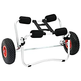 vidaXL 1/2x Chariot pour Kayak Roulant Transport Bateau Canoë Pare-Chocs