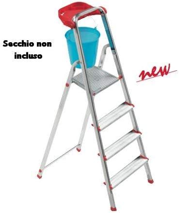 Scab Escalera Aluminio PIU 4 gr 804: Amazon.es: Jardín