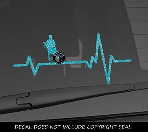 Heart Beat Line Heartbeat GOLF MALE Carrying Bag Set Clubs Car Vinyl Sticker Wall Decal 3.75