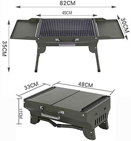 Barbecue au Charbon Portable Grill extérieur Pliable pour la fête à la Maison Les Pique-niques la Plage Le Camping ou Le Barbecue de terrasse de Table