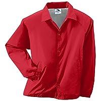 Augusta Sportswear Unisex-Adult Nylon Coach's Chaqueta /Forro, Rojo, Pequeño
