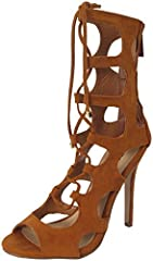 Breckelles Womens Roma-61 Strappy Heels Sandals