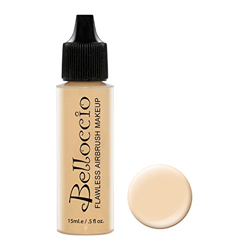 Belloccio's Professional Cosmetic Airbrush Makeup Foundation 1/2oz Bottle: Buff- Light with Golden Undertones (Airbrush Foundation)