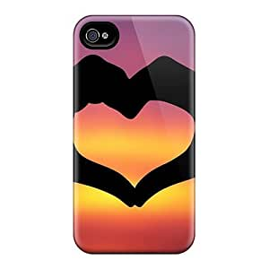 Fashionable Style Cases Covers Skin Samsung Galaxy Note2 N7100/N7102 - Heart Hands