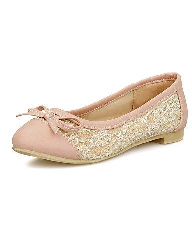 de redonda rosa eu38 zapatos negro mujer piel cn38 de punta black almendra 5 us7 Flats uk5 Casual 5 PDX sintética plano talón qEgzB7U