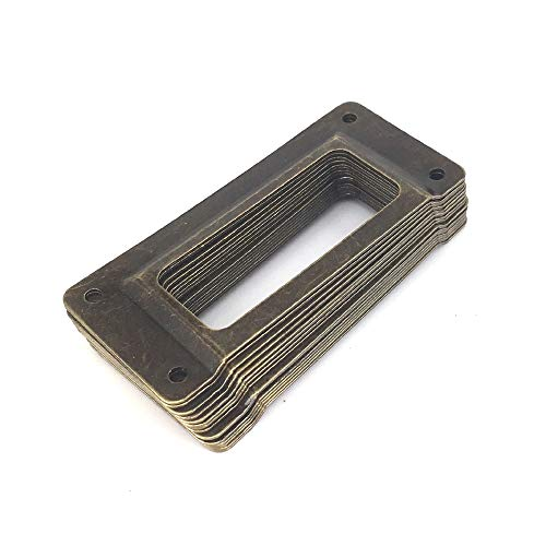 Jacana Boutique Antique Iron Label Frame name Card Holder library display sorting filing shelf cabinet cupboard Drawer Tag Holder 62mm x - Antique Boutique