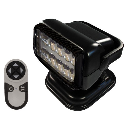 GoLight RadioRay LED Portable Searchlight with Wireless Handheld Remote, Magnetic Shoe,Black
