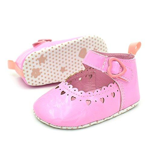 timeracing Infant Toddler bebé suave única prewalker cuna zapatos blanco blanco Talla:6-12 meses rosa