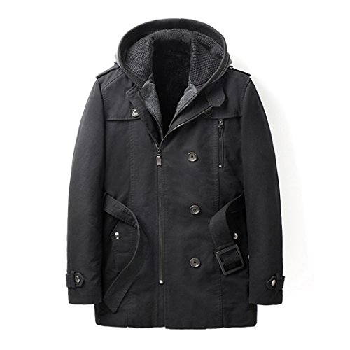 the HHY cotton L Europe black wear men's coats cap casual warm padded and with winter RqHAqwB
