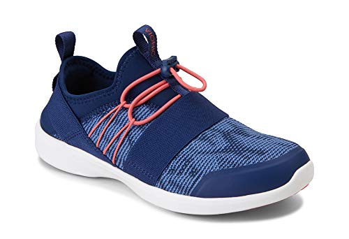 (Vionic Women's Sky Alaina Slip-on Active Sneaker - Ladies Walking Shoes with Concealed Orthotic Arch Support Navy 9.5 W US)