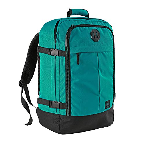 Cabin Max️ Metz Backpack for Men and Women Flight Approved Carry On Luggage Bag Massive 44 Litre Travel Hand Luggage 22x14x9 - Perfectly Sized for Southwest Airlines and More! (Vintage Teal)