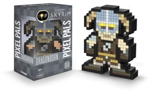 (PDP Pixel Pals The Elder Scrolls V: Skyrim Dragonborn Collectible Lighted Figure, 878-036-NA-Dovahkiin)
