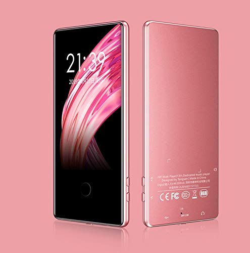Alician Touch ScreenMP3 Mp4 Player 8G 16G Sports 3.6 Inch Screen HD Lossless Music Player 8GB Rose Gold