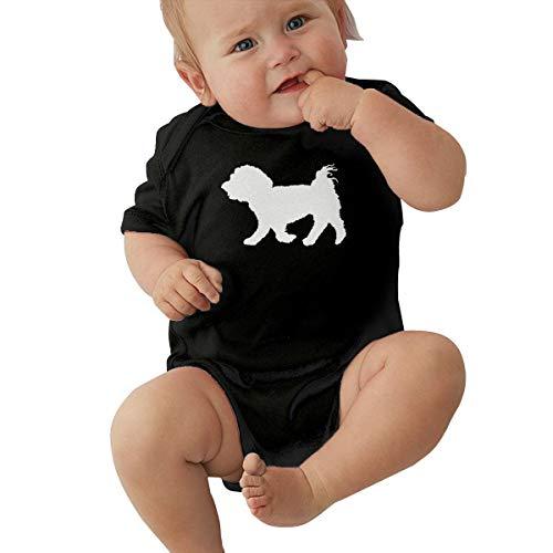 - Maltese Dog Silhouette Baby Clothes Newborn Girls Short-Sleeve Romper Bodysuit Jumpsuit Black
