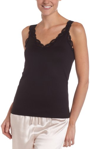 Only Hearts Women's Delicious Deep V-Neck Tank With Lace - 41840L,Black,X-Large