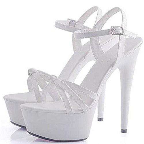 Professionnel Imperméable Modèle LLP Hauts Fond Sandales Hauts E Femmes Talons épais Forme Talons Sandales Plate pour Chaussures Banquet w6xFqWzYR6