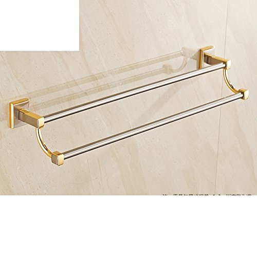 low-cost punch-free towel bar/Chinese-style gold Towel rack/single and double Towel Bar/black bathroom hardware accessories/Towel shelf -B