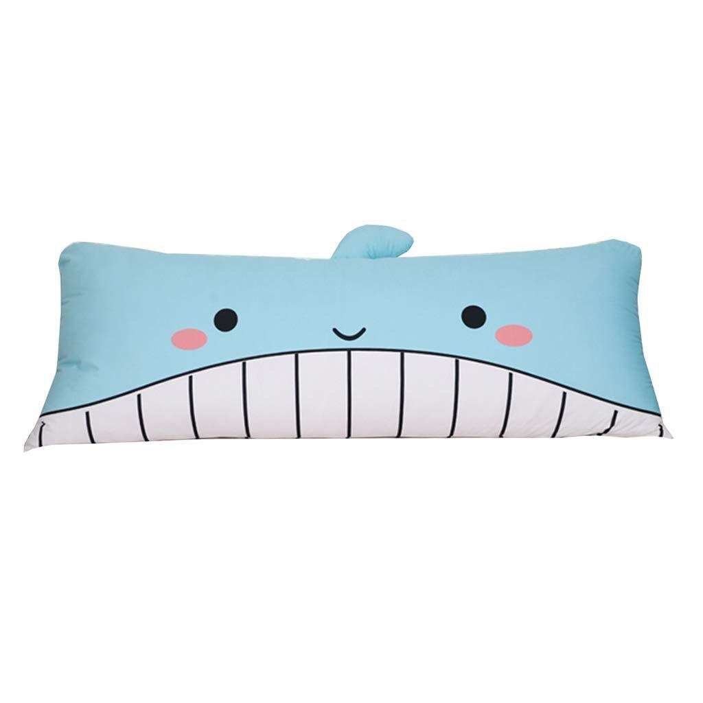 ZHWNGXO Pp Cotton headrest Large Back Pillow, Bedroom Double Bed Anti-Collision Head 2 Colors 5 Sizes (Color : B, Size : 0.6m)