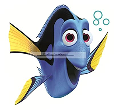 "5"" Dory Fish Finding Nemo 2 Movie Removable Peel Self Stick Wall Decal Sticker Art Bathroom Kids Room Walt Disney Pixar Home Decor Boys Girls 4 inches wide by 5 3/4 inches tall"