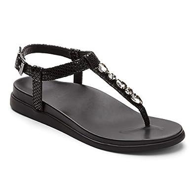 14505674b841 Vionic Palm Boca- Womens Sandal Black Snake - 5 Medium