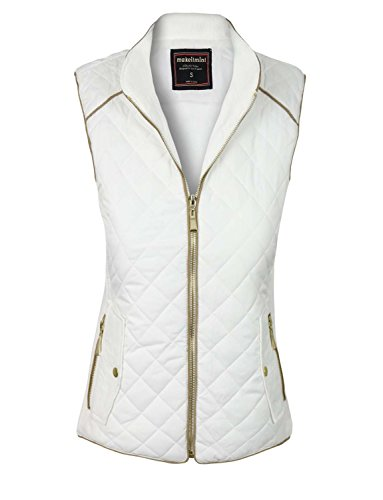 makeitmint Womens Quilted Padding Pockets
