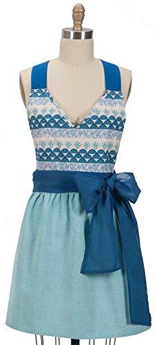 Kay Dee Designs R6381 Seaside Chambray Hostess Apron with Organza Sash,