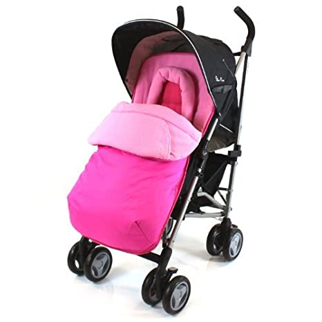 Silver Cross POP Footmuff - Liner & Head-support With Pouches Highly Padded (Raspberry Pink) Baby Travel®