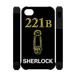 Perfect Arts Hot Movie Sherlock Holmes Unique Custom IPHONE 4 or 4S Best Polymer+Rubber Cover Case WANGJING JINDA