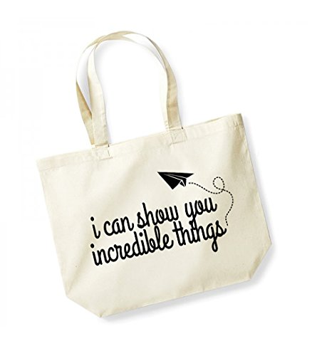 Incredible Canvas Natural You Can Print black Show Unisex Bag Cotton Kelham Slogan Things I Tote IxPw1