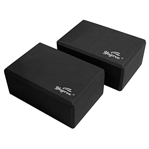 Review Yogree High Density EVA Foam Brick Yoga Block, (9 x 6 x 4) Inches – Black, 2 Piece