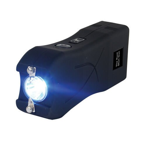Runt-20-MILLION-Volt-stun-gun-wLED-Flashlight-Disable-Pin-Black